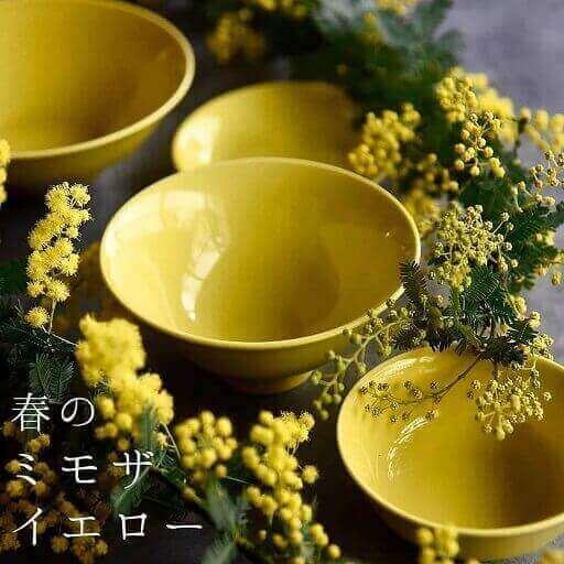 黄蘗色の波佐見焼6型セット
