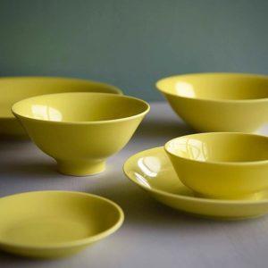 黄蘗色の波佐見焼6型セット20%off1