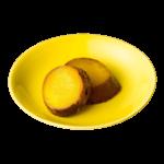 黄蘗色の波佐見焼の小皿