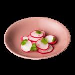 水柿色の波佐見焼の小皿