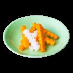 裏柳色の波佐見焼の小皿