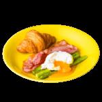 黄蘗色の波佐見焼の大皿